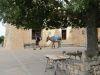 Esel auf dem Castell d'Alaró zum Abtransport des Mülls