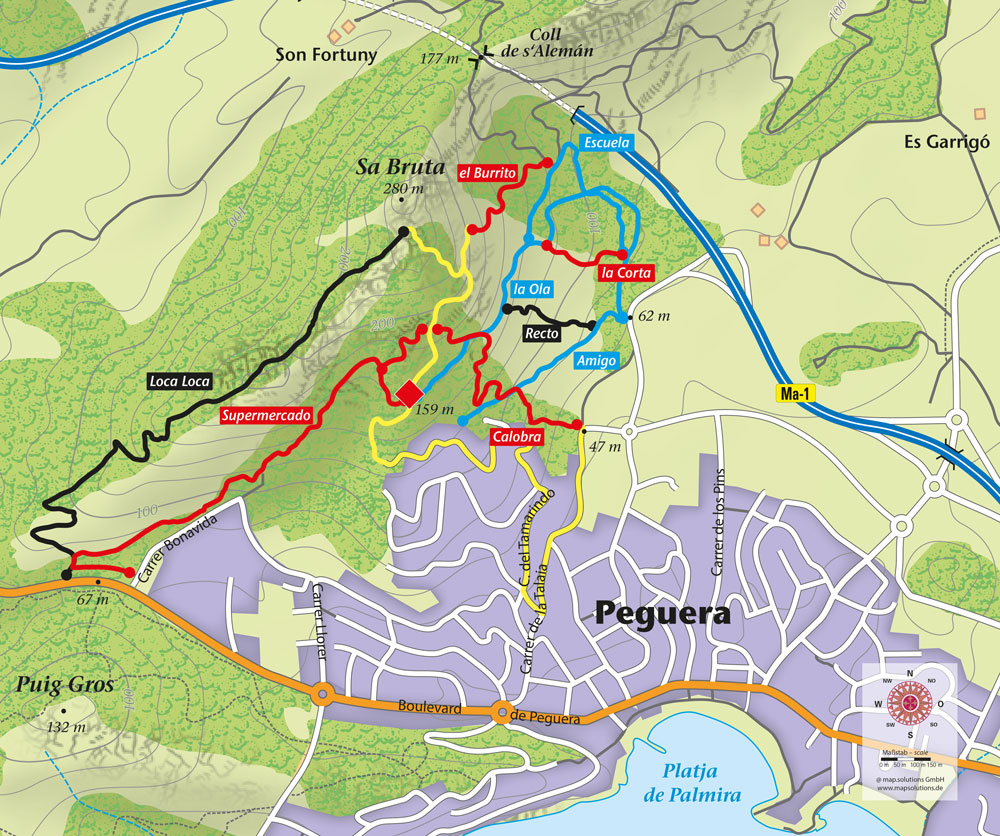 Mallorca Karte Paguera.Trailpark Paguera Mallorca Eröffnet Serratramuntana De
